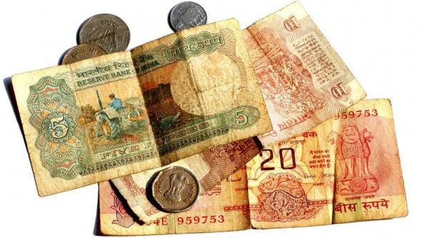 Старый дизайн индийских рупий