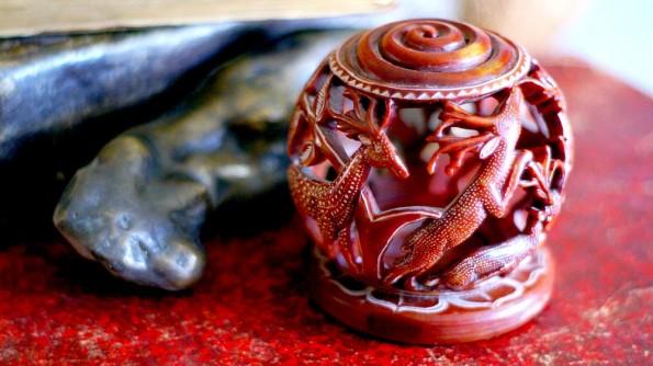 Каменная лампа из Махабалипурама. Тамил Наду. Индия  (c)inditrip.net