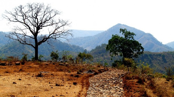 Hills of Onkadeli (Ankudeli) adivasi tribal area