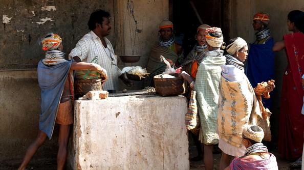 Adivasi tribal market in Onkadeli (Ankudeli)
