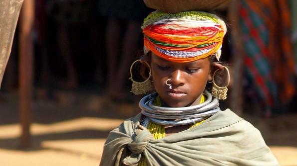 Девушка из племени Бонда. Индия, Орисса, округ Малкангири (с)inditrip.net