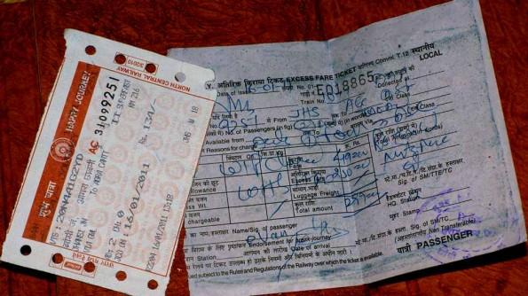 Билет General class и квитанция доплаты к нему для проезда в слиппере. (c)inditrip.net