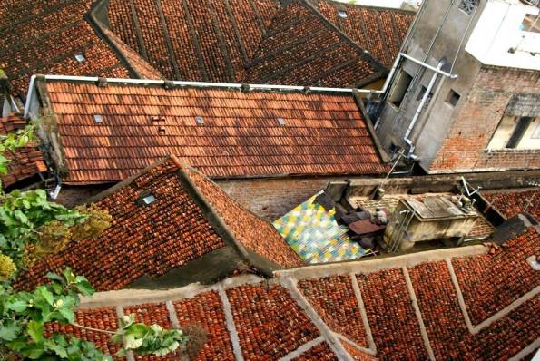 Крыши квартала дикшитаров в Чидамбараме (c)inditrip.net