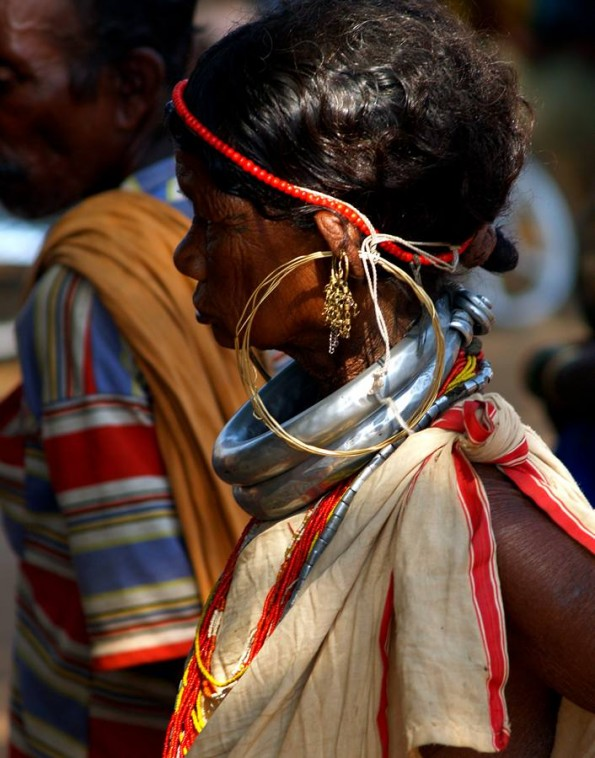Tribes of India. Adivasi lady of Gadaba tribe at Onkadely weekly market. (c)inditrip.net