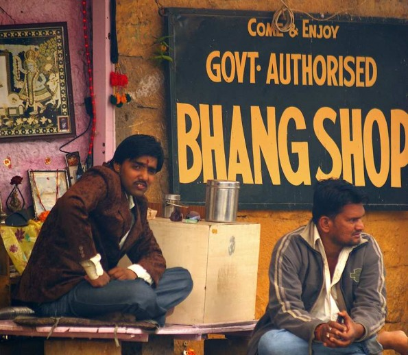 Bhang Shop in Jaisalmer. Cousine with marijuana. Rajasthan. India. (c)inditrip.net