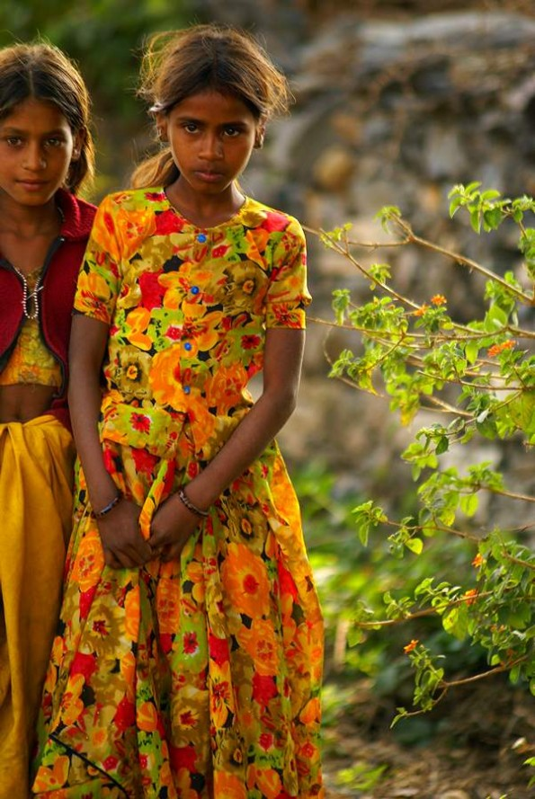 Bhil tribal girls. Nai, Udaipur district, Rajasthan, India (c) inditrip.net