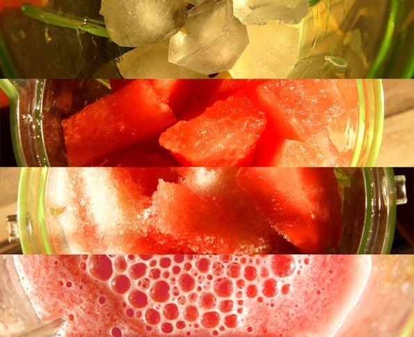 Раз, -- кубики льда сыплются в чашку блендера. Два, -- ломтики арбуза. Три, -- несколько ложек сахара. Четыре, -- бжж-ж-ж-ж-ж! И райское наслаждение.